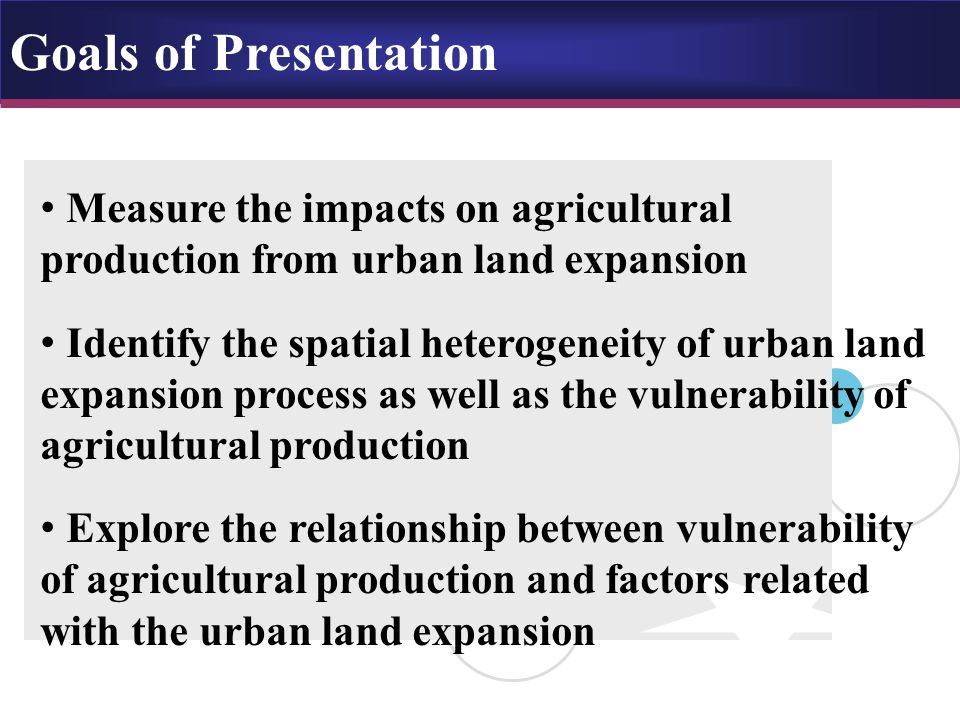 China's land conversions under the rapid urbanization process, 1988-2000 Total reduction: 2.6 million ha, or 1.9% New uses: - Built-up Area (47%); Forestry area (17%); - Grassland (22%); Water area (11%); Unused land (5%) Total addition: 5.2 million ha, or 3.8% Sources: - Built-up Area (0%); Forestry area (29%) - Grassland (55%); Water area (4%); Unused land (11%)