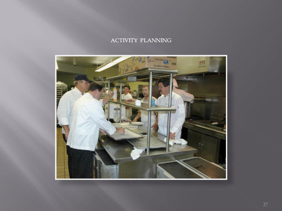 ACTIVITY PLANNING 27