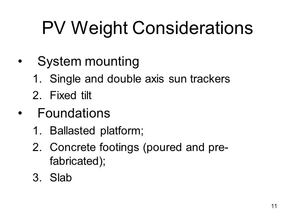 10 Weight Considerations Courtesy of Tony Walker, Republic Services, twalker@republicservices.com