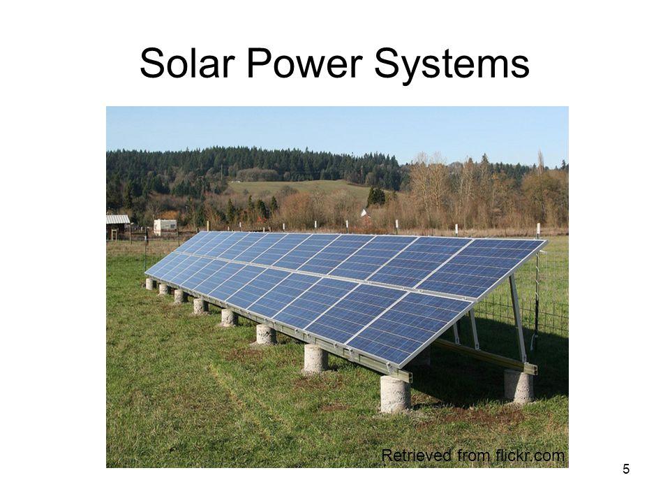 5 Solar Power Systems Retrieved from flickr.com
