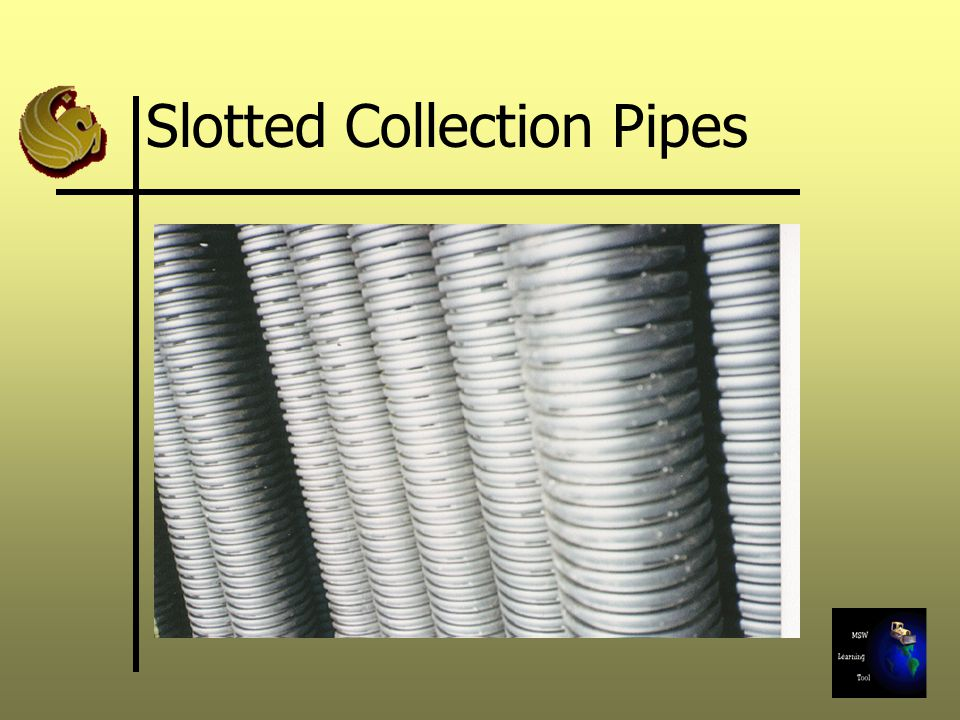 Slotted Collection Pipes