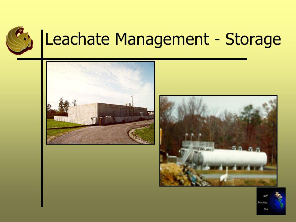 Leachate Management - Storage