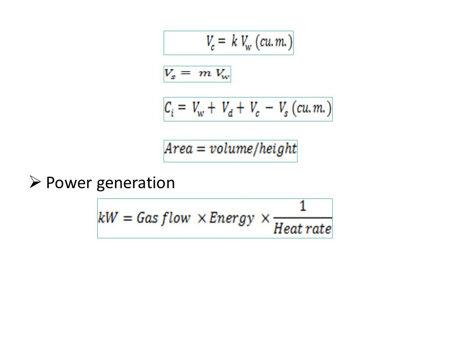  Power generation