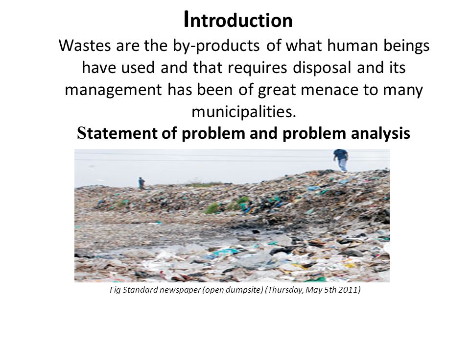 Overall objective T o design a sustainable sanitary landfill with an integrated energy generation system.