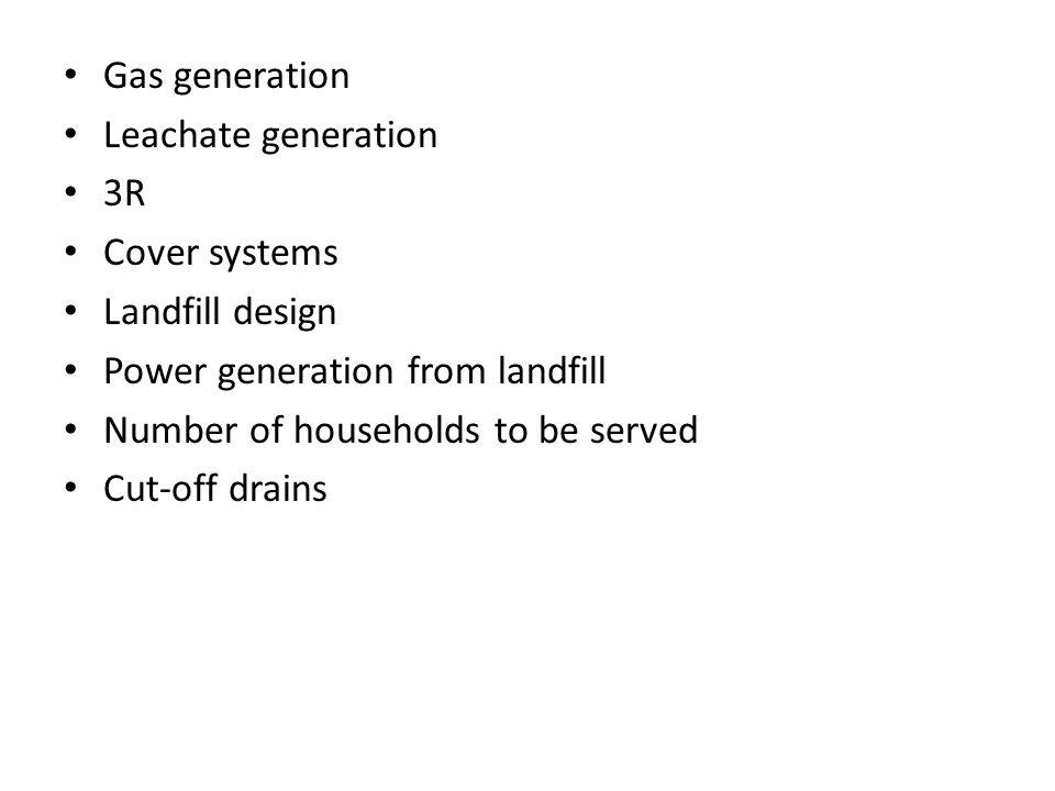 Methodology  Site determination  Data collection  Determination of landfill size  Determination of power generation