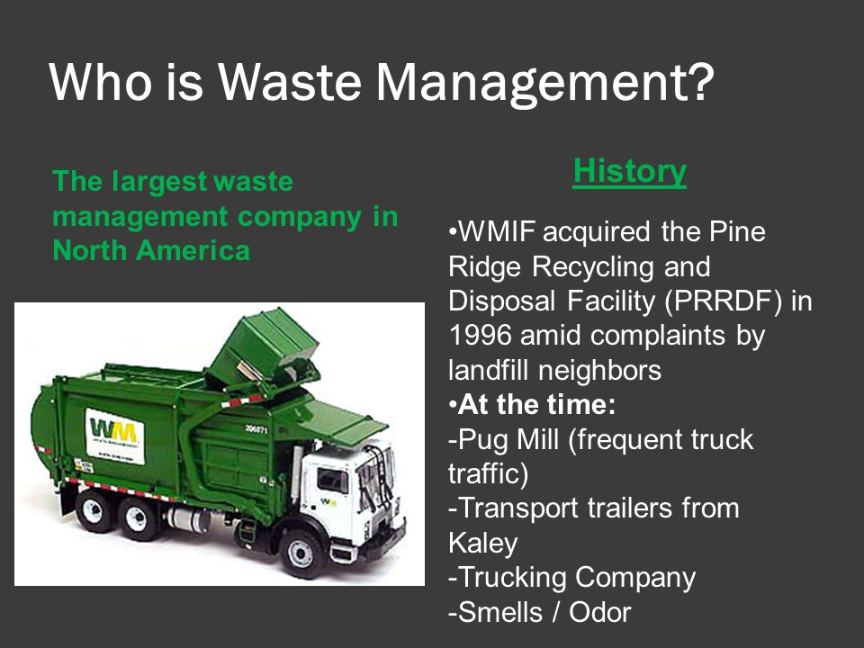 Who is Waste Management.