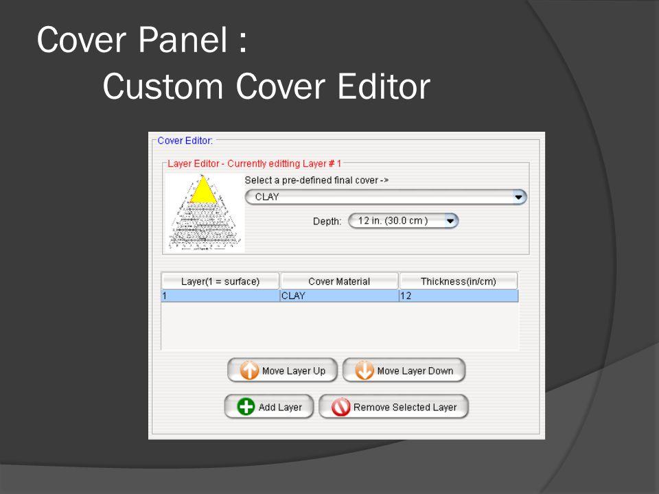 Cover Panel : Custom Cover Editor