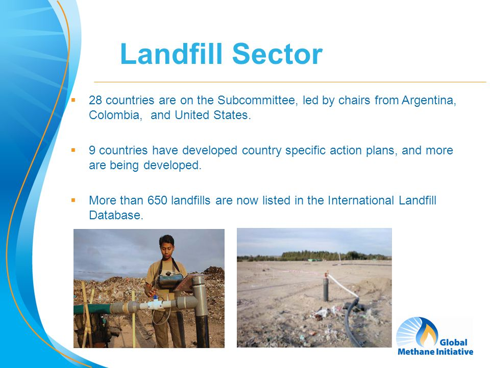 3 Global Methane (CH4) Emissions (MMTCO2e) in 2000 Global Landfill Methane Emissions  Methane is produced and emitted during the anaerobic decomposition of organic material in landfills  Globally, landfills are the 3 rd largest anthropogenic source, accounting for 13 percent of emissions Global Anthropogenic Emissions of Non-CO2 Greenhouse Gases 1990-2020, U.S.