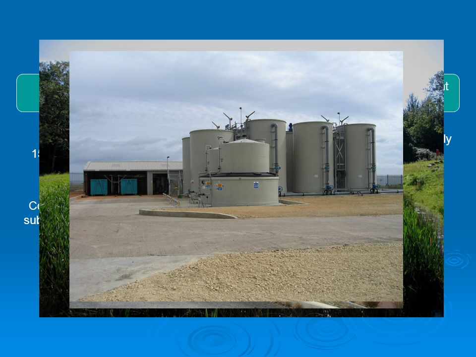 Sludge Generation/Collection WetlandsDrying Bays Mobile Plant Industrial plant Estimated 15 to 20 year lifespan Component in substitute soils.