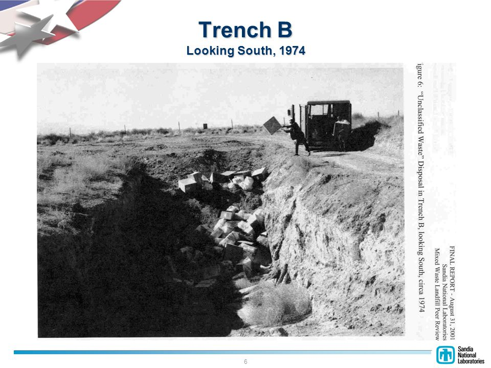 6 Trench B Looking South, 1974