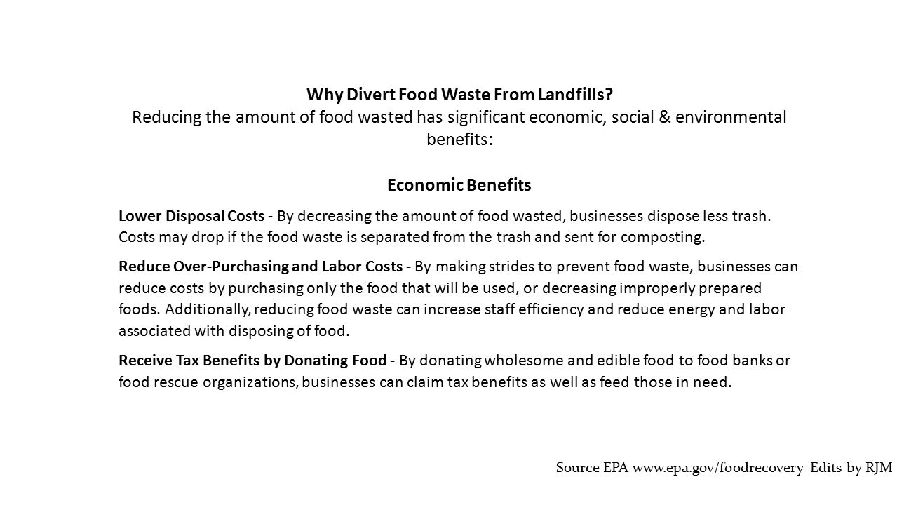 Why Divert Food Waste From Landfills.