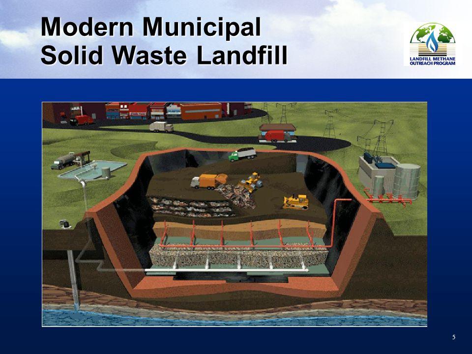 55 Modern Municipal Solid Waste Landfill