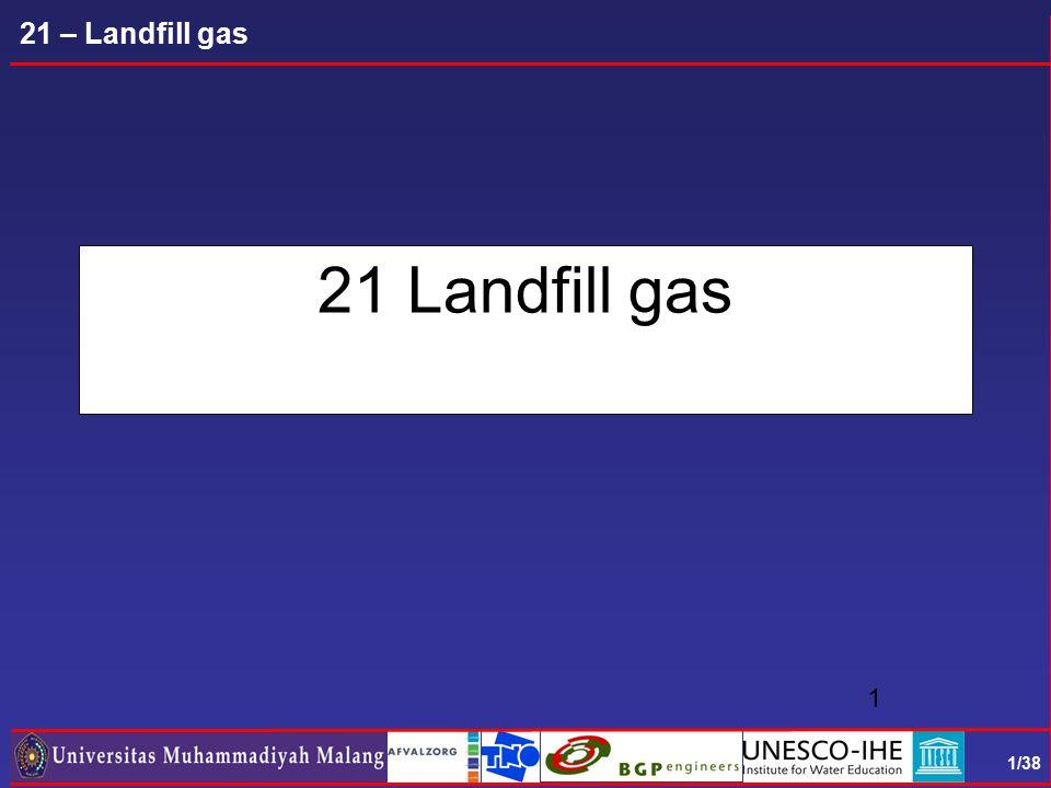 1/38 21 – Landfill gas 21 Landfill gas 1