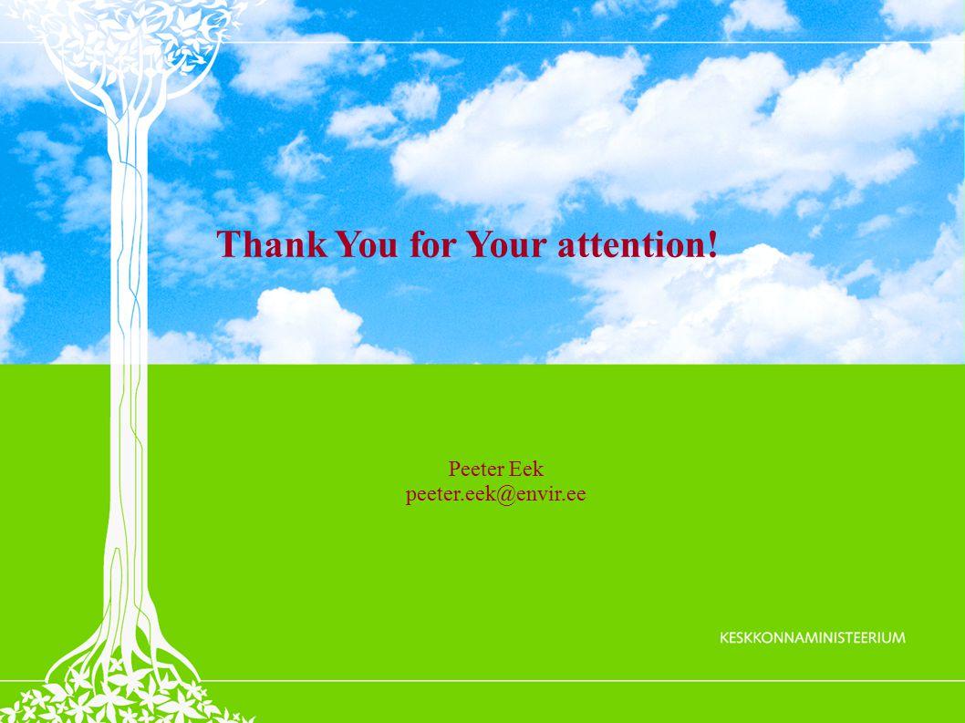 Peeter Eek peeter.eek@envir.ee Thank You for Your attention!