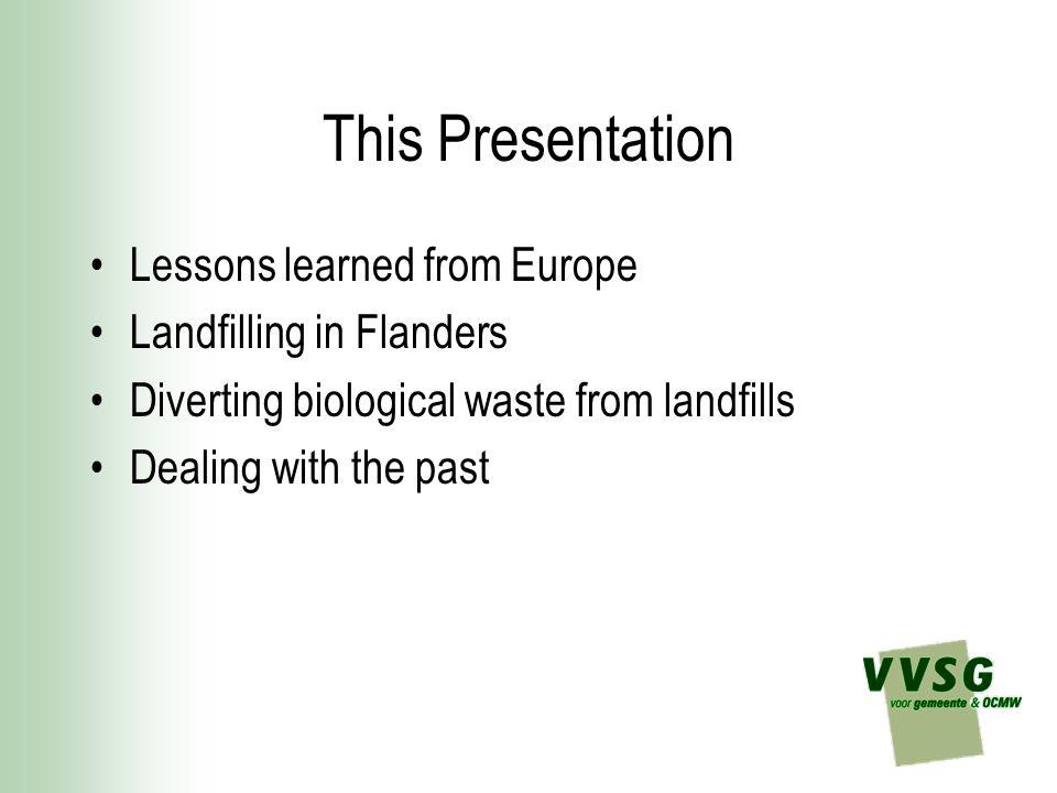 Diverting biological waste from landfills (1) 50 % of household waste = food/kitchen & garden waste .