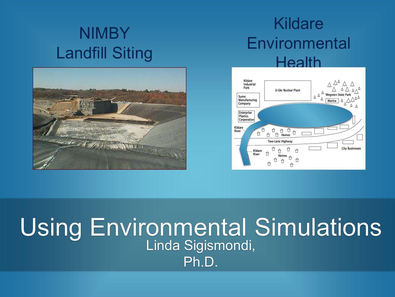 Using Environmental Simulations Linda Sigismondi, Ph.D. NIMBY Landfill Siting Kildare Environmental Health