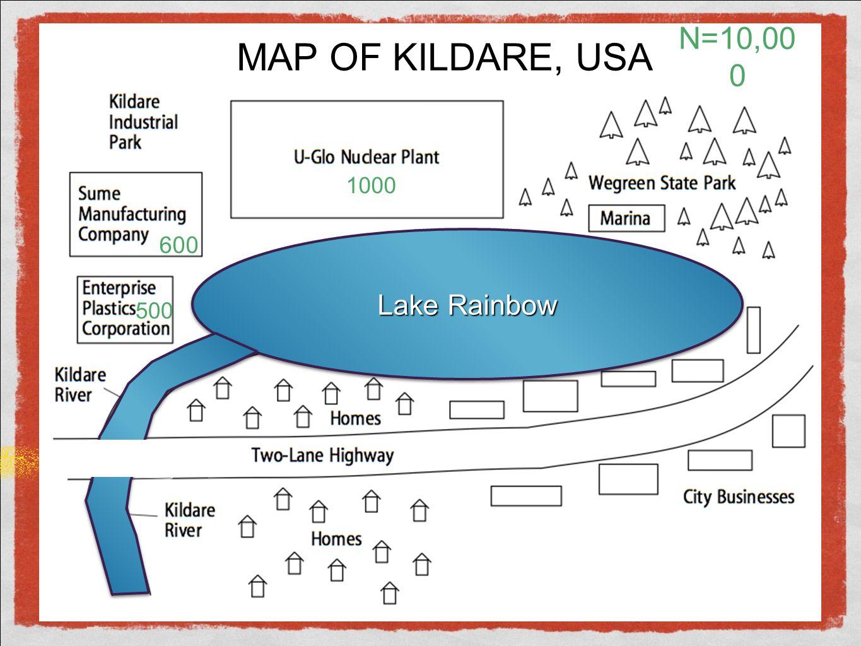 Lake Rainbow MAP OF KILDARE, USA 500 600 N=10,00 0 1000