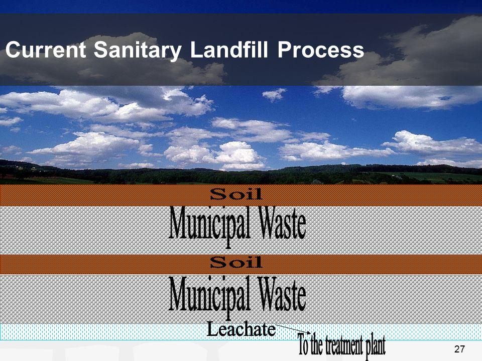 27 Current Sanitary Landfill Process