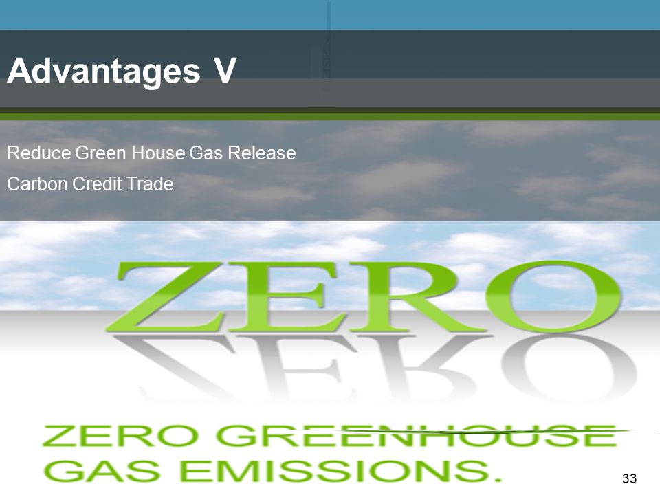 33 Reduce Green House Gas Release Carbon Credit Trade Advantages V