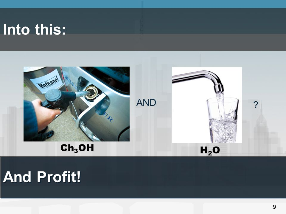 9 Into this: AND ? And Profit! Ch 3 OH H2OH2O