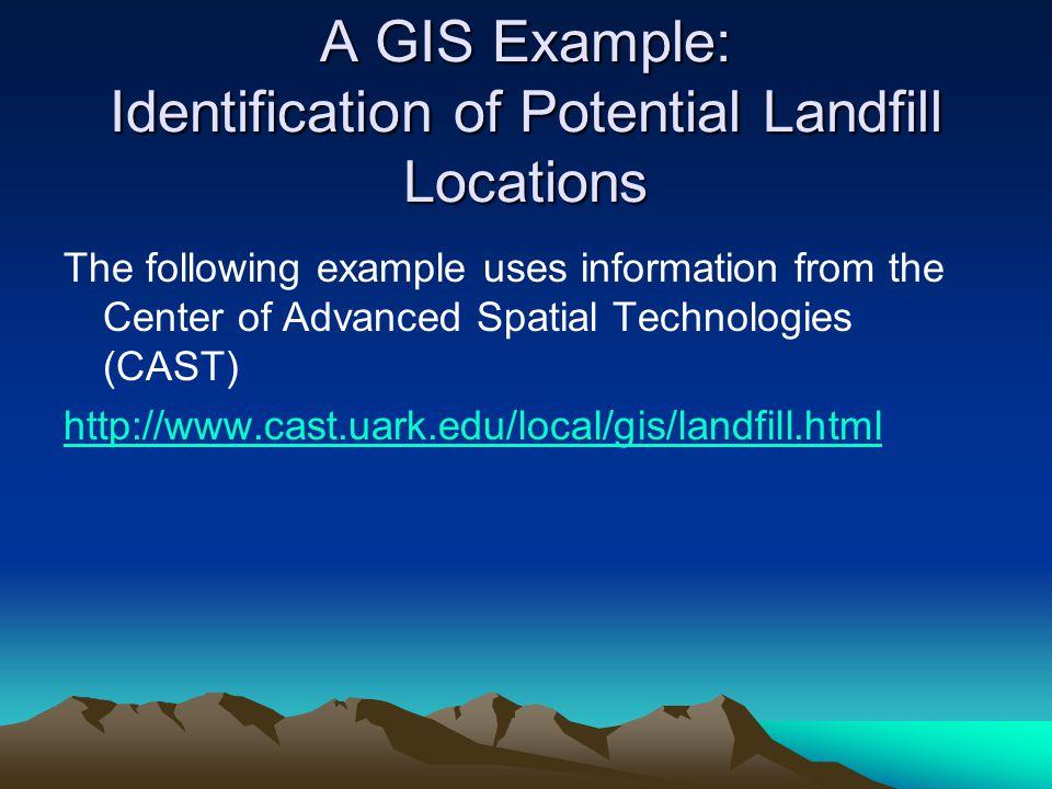 Landfill Location Criteria Areas not suitable based on criteria 1 through 5 Areas in Red Not Suitable