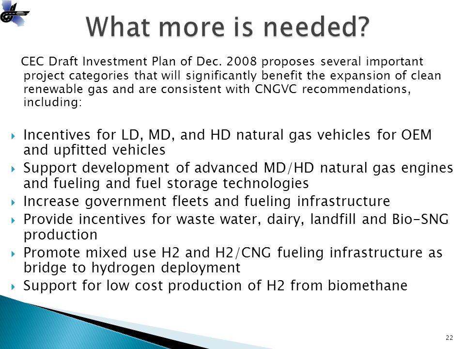 CEC Draft Investment Plan of Dec.