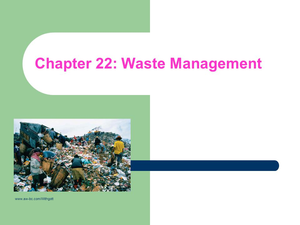 Chapter 22: Waste Management www.aw-bc.com/Withgott