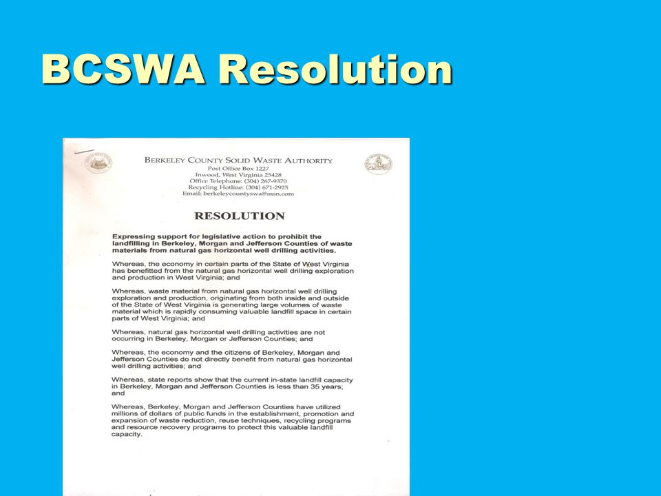 BCSWA Resolution