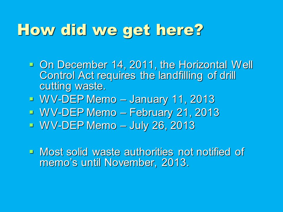 What did the WV-DEP memo's do.