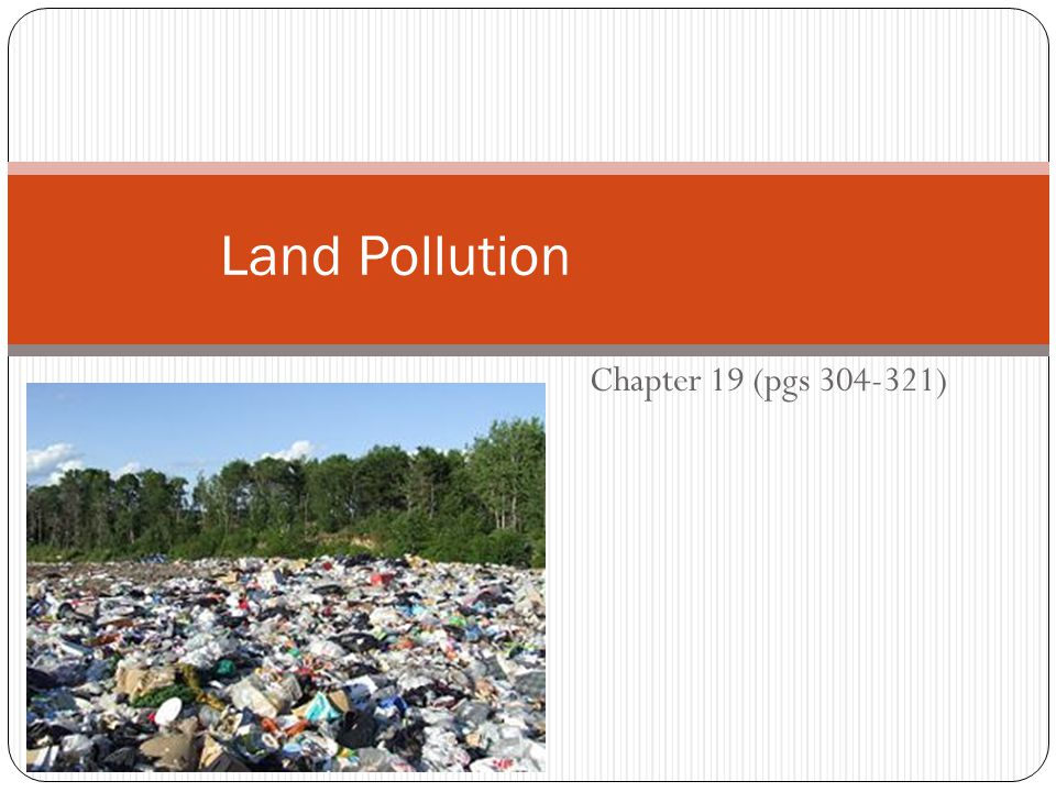 Chapter 19 (pgs 304-321) Land Pollution