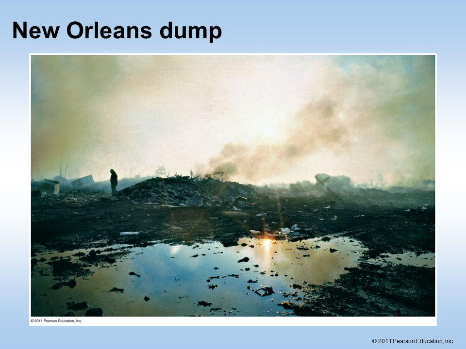 © 2011 Pearson Education, Inc. New Orleans dump