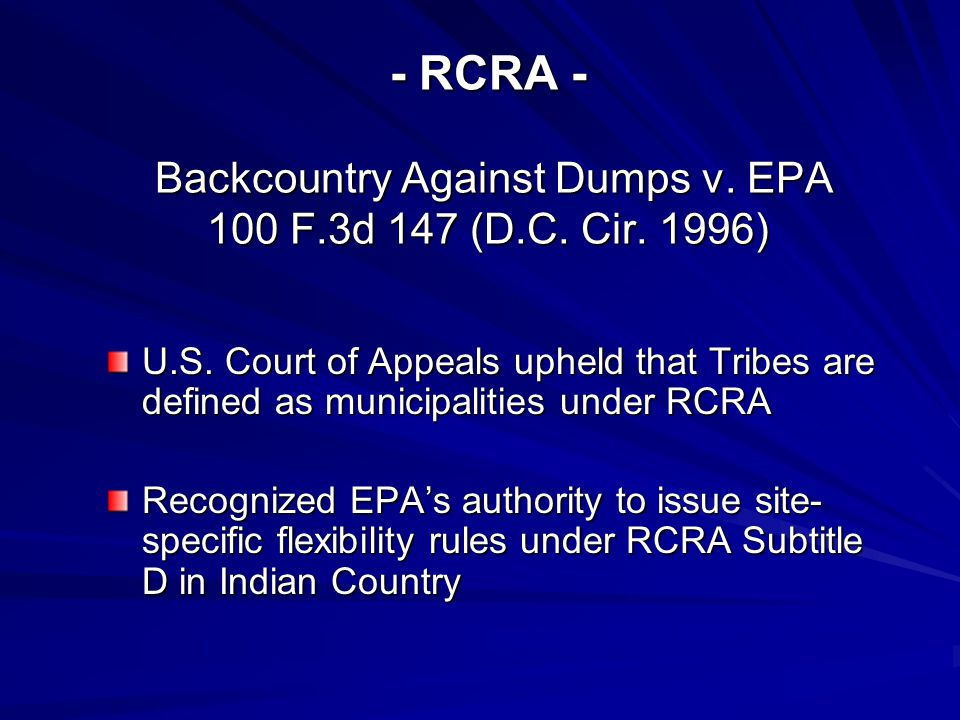 Brownfields Act Federal Enforcement Bar Section 102 of the Act bars federal enforcement action for sites in eligible State/Tribal cleanup programs in some circumstances.
