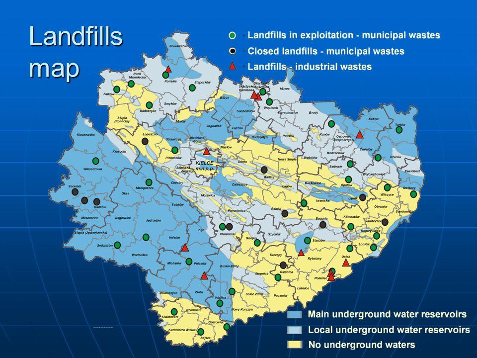 Landfills map
