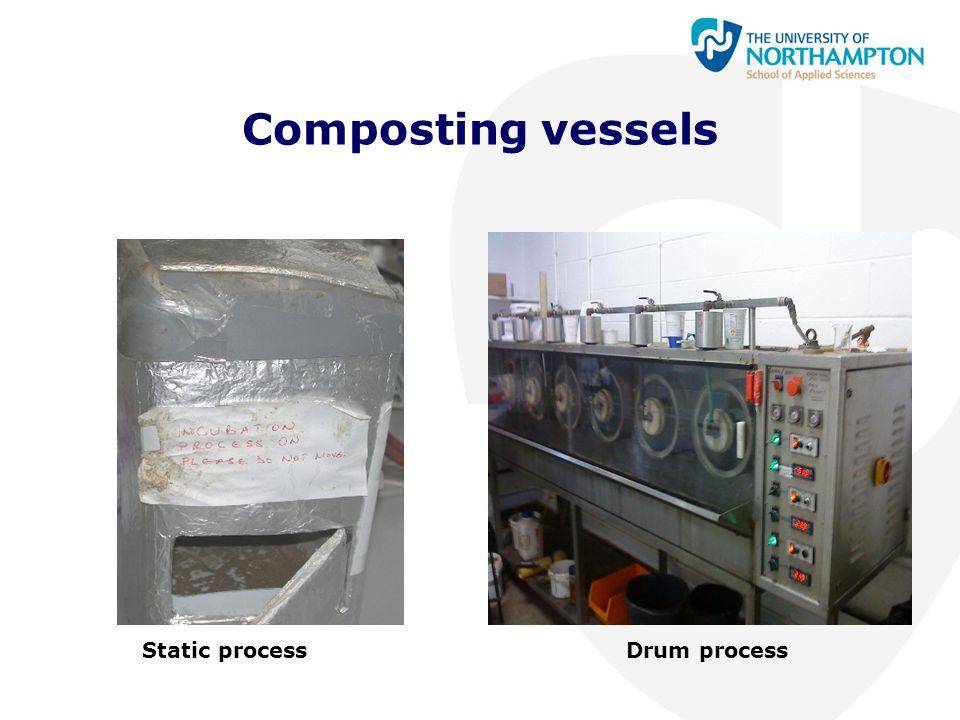 Composting vessels Static processDrum process