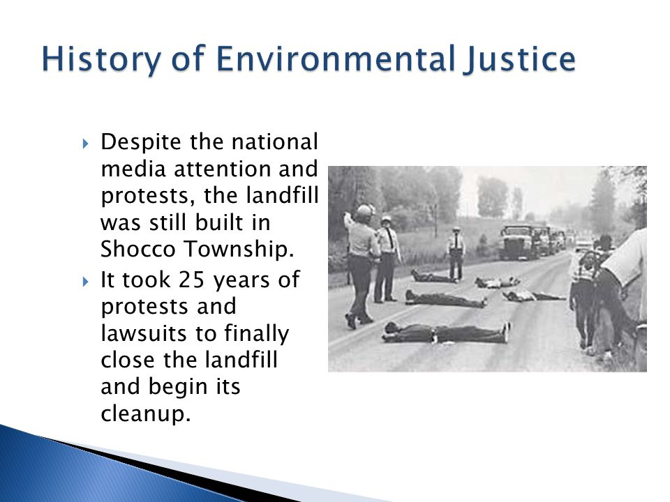  Despite the national media attention and protests, the landfill was still built in Shocco Township.