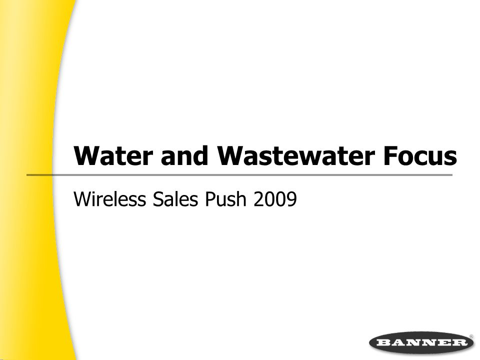 Water and Wastewater Focus Wireless Sales Push 2009