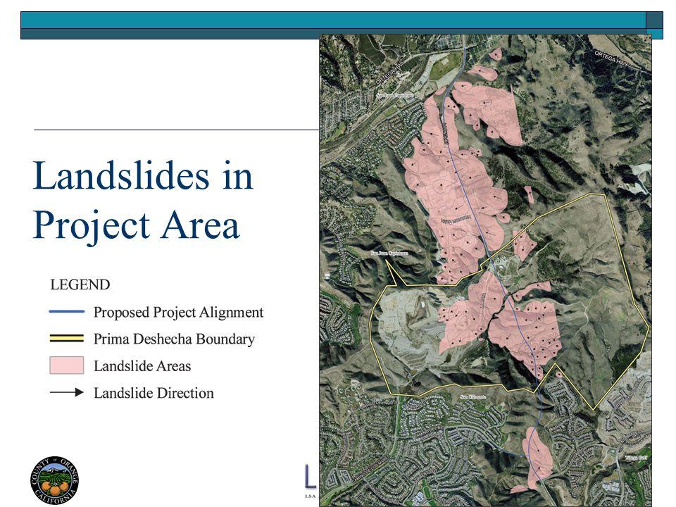 17 Landslides in Project Area