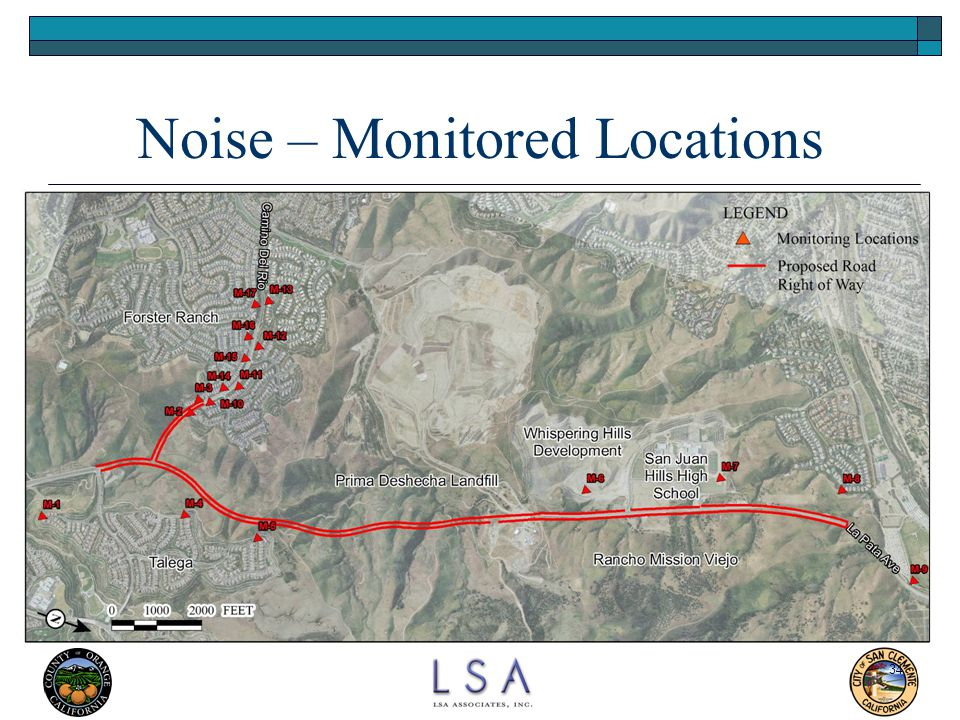 34 Noise – Monitored Locations