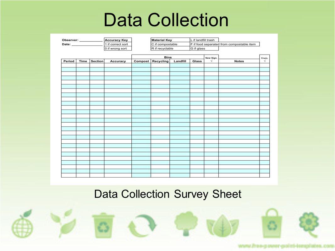 Data Collection Survey Sheet