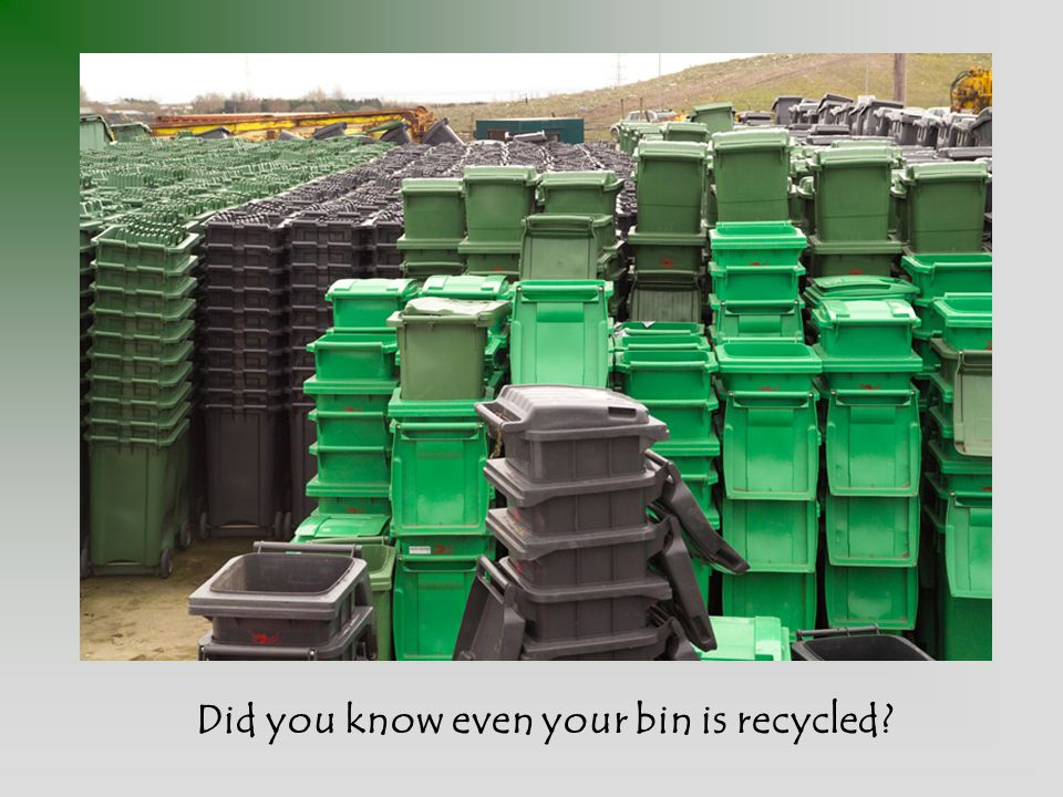Did you know even your bin is recycled?