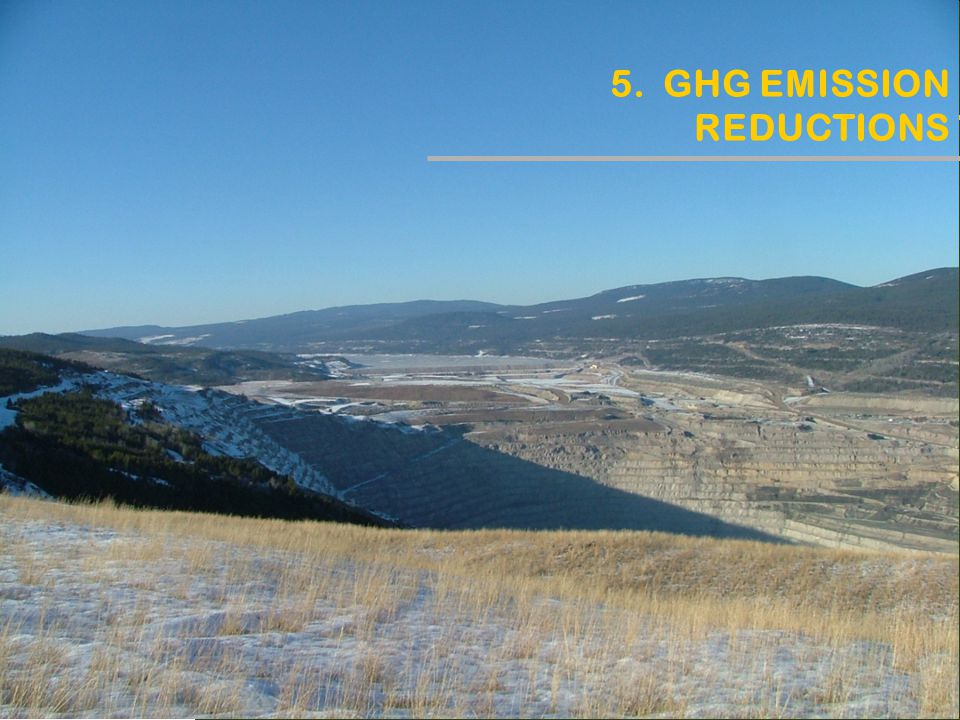 5. GHG EMISSION REDUCTIONS