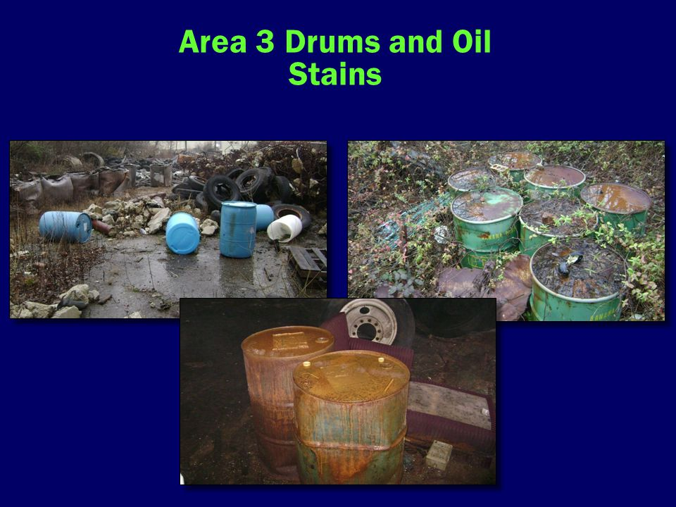 Area 3 Drums and Oil Stains