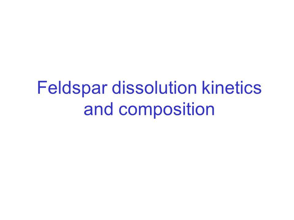 Feldspar dissolution kinetics and composition