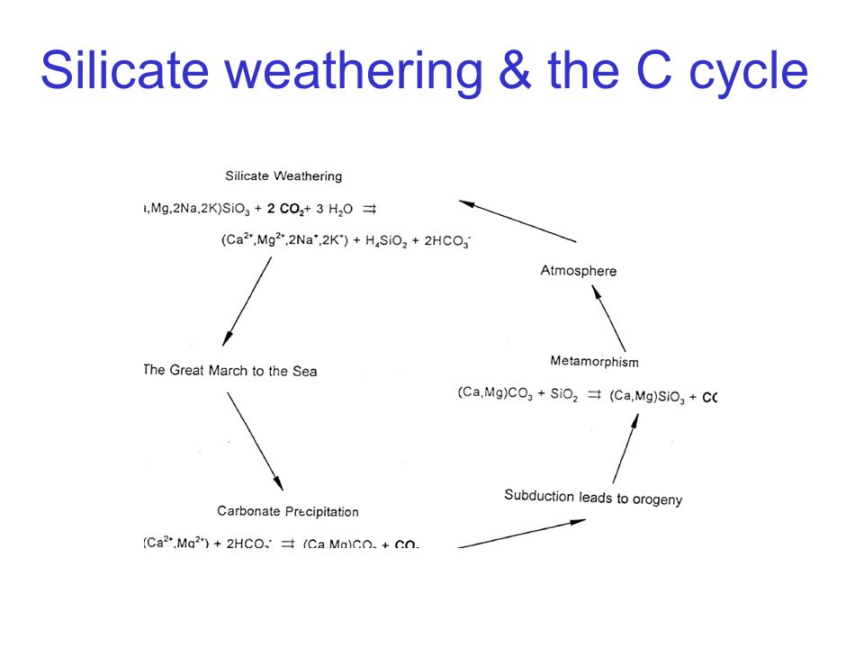 Silicate weathering & the C cycle