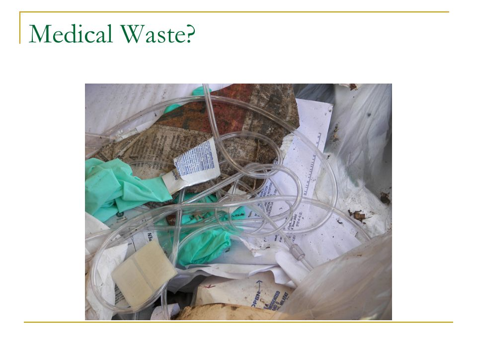 Medical Waste or Solid Waste?