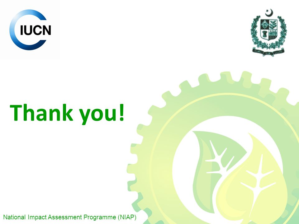 National Impact Assessment Programme (NIAP) Thank you!