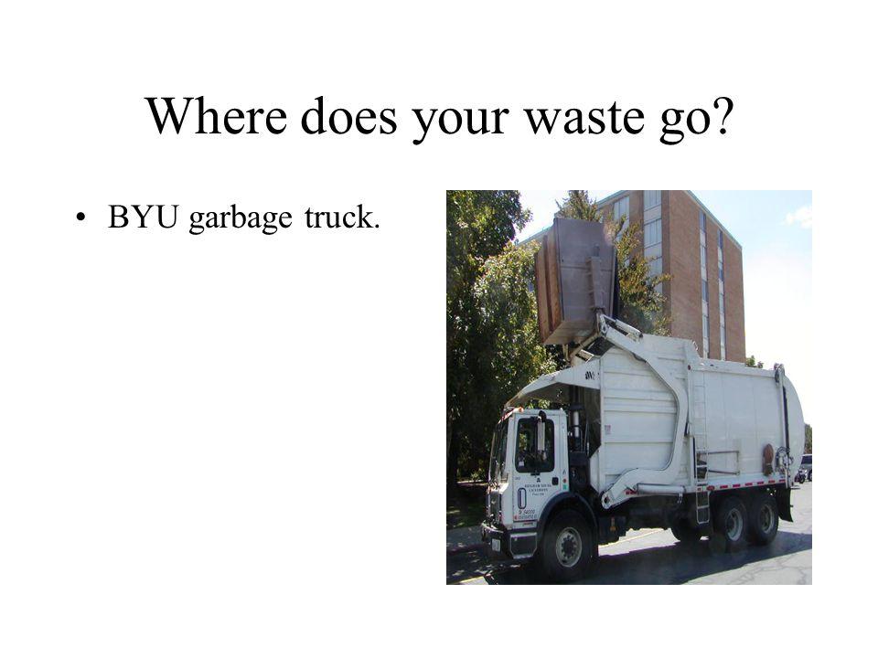 BYU garbage truck.