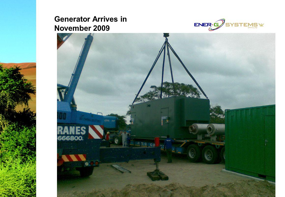 Generator Arrives in November 2009