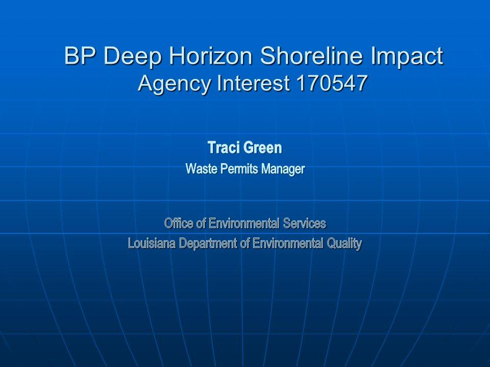 BP Deep Horizon Shoreline Impact Agency Interest 170547