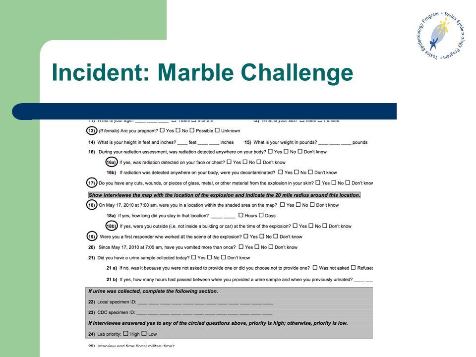 Incident: Marble Challenge